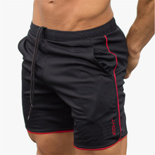 DERMSPEMens shorts Calf Length gyms Fitness Bodybuilding Casual Joggers workout Brand sporting short pants Sweatpants Sportswear