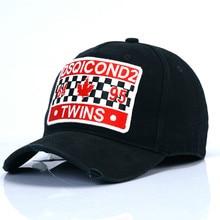 High Quality DSQICOND2 Cotton Black Baseball Cap Men Adjustable Women Dad Hat DSQ Casquette Mens