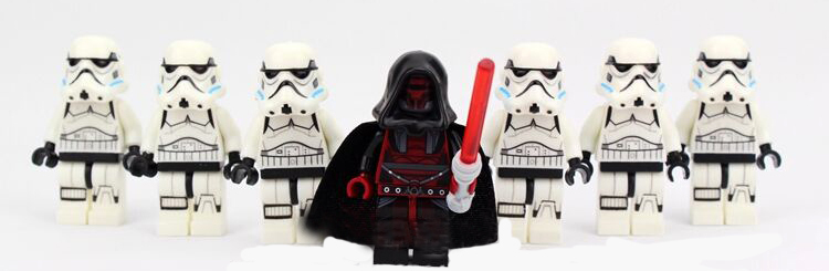hao gao le 7pcslot  Dath revan leader  white clone Trooper sw578 with 2pcs weapons compatible 75046 block Kids toy