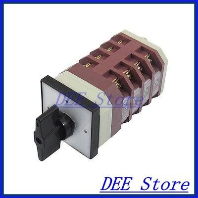 Three Position 16 Screw Terminal AC 660V 10A Cam Combination Changeover Switch 16a 500vac 12 screw terminal 4 positions universal changeover switch