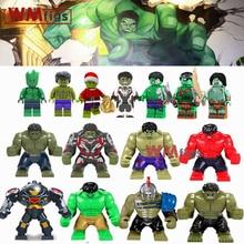 Single Marvel Avengers 4 Endgame Legoings Big Size Green Hulk Bruce Banner Red She Hulk Building Blocks Toys Children Boy Gifts