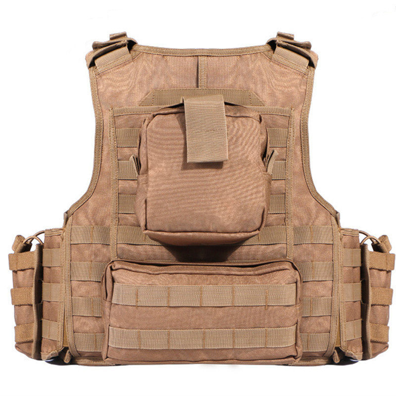 600D Nylon Molle Tactical Vest Anti wear Outdoor Hunting Shooting Camping Training CS Field Combat Gear Detachable Waistcoat - 2