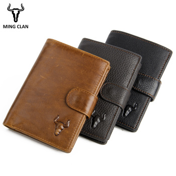 Genuine Leather Men Wallets Brand High Quality Design Wallets with Coin Pocket Purses Gift For Men Card Holder Bifold Male Purse brand genuine leather passport holder men wallet with passport pocket coin pocket multiple id card holder men wallets purses