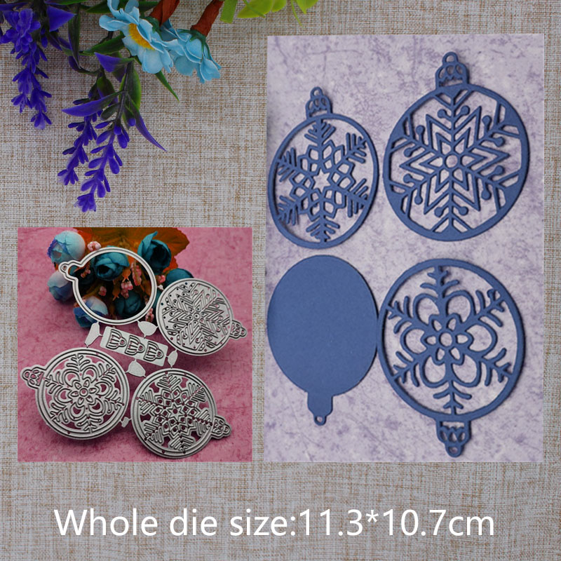 2019 New Arrival Christmas Bell Snowball Metal Cutting Dies Stencil DIY Scrapbooking Embossing Decor Photo Album Craft 113X107mm in Cutting Dies from Home Garden