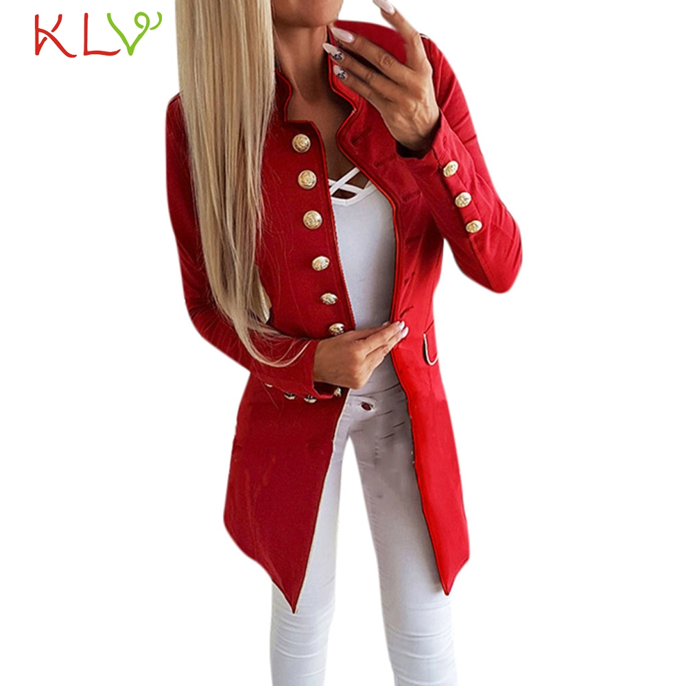 Jackets & Coats Women Jacket Winter Long 2018 Office Lady Lapel Suit Button Coat Plus Size Ladies Chamarra Cazadora Mujer Coat For Girls 18oct24 With The Most Up-To-Date Equipment And Techniques Basic Jackets