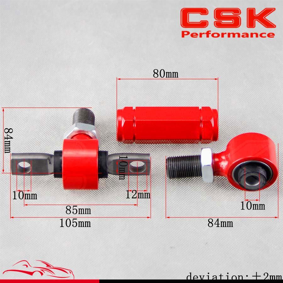 Задний ADJ. C/ARM для HONDA CIVIC 92-00 INTEGRA EG задний Регулируемый CAMBER ARMS KIT Красный