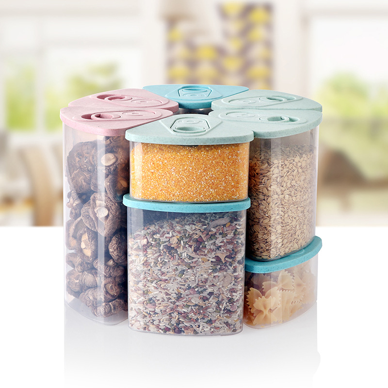 2019 Newest Hot Plastic Kitchen Food Cereal Grain Bean Rice Storage Box Container Box Cases