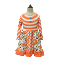 High quality cotton boutique halloween  girls clothing sets boutique kids apparel ruffle baby clothes