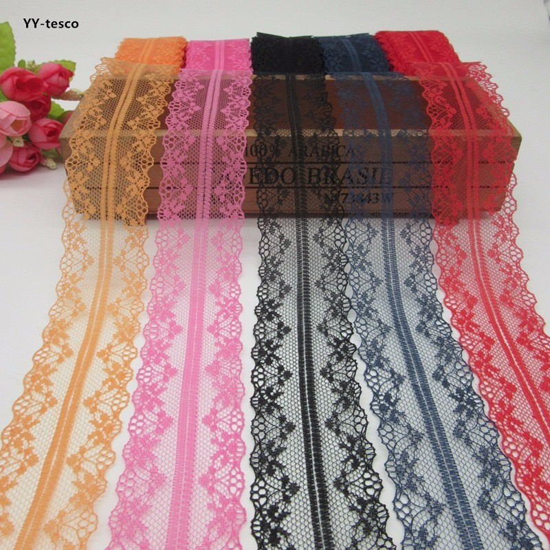 10 Yard Bilateral Lace Ribbon Embroidered Net Lace Trim Decor Fabric