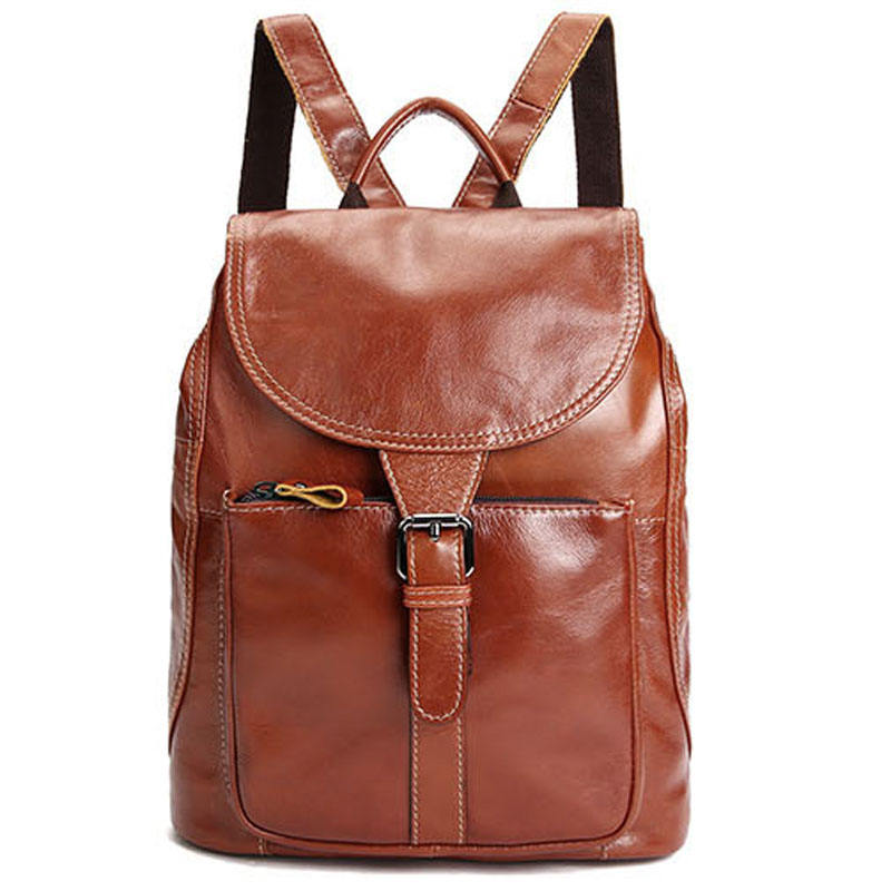 High Quality Real Genuine Leather Women Backpack Ladies backpacks for teenage girls back pack Travel Bags feminina mochila LY141