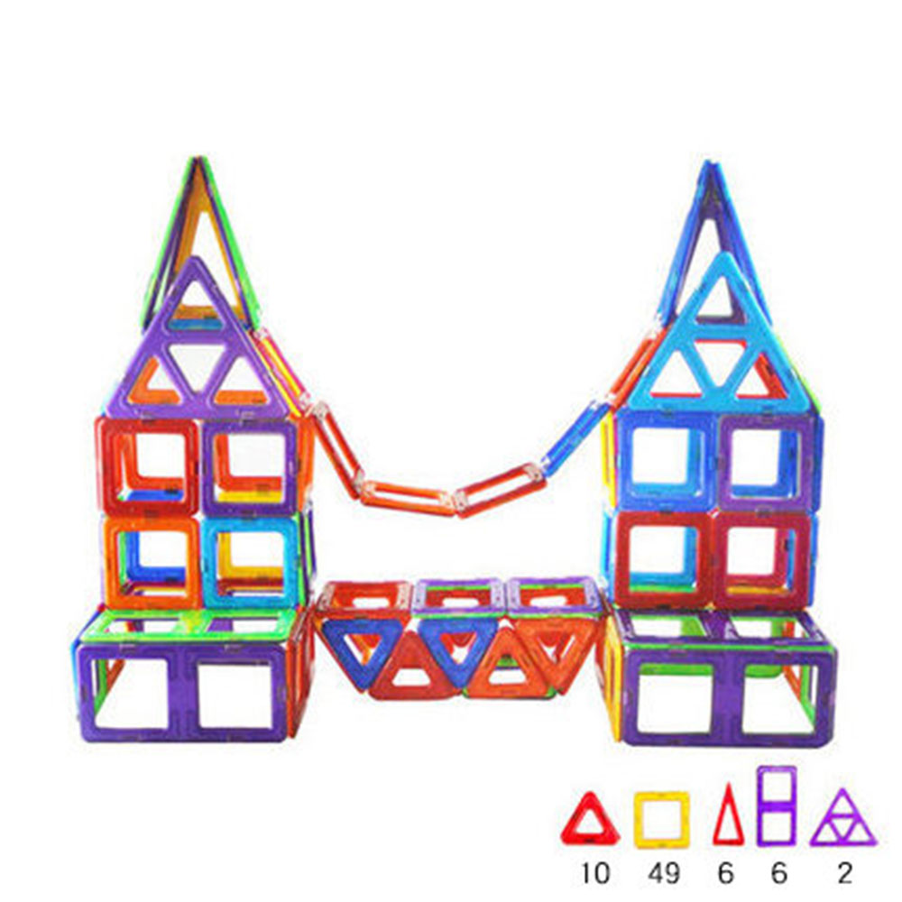 Magic Castle Shape Magnetic Designer Building Blocks Model & Building Toys Brick Enlighten Bricks Magnetic Toys for Children small car shape magnetic designer building blocks model