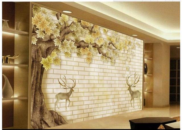 Customized 3d photo wallpaper for walls 3 d High large deer creative ...