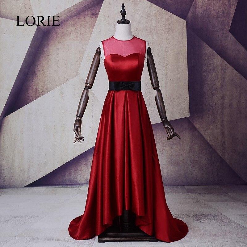 Простые Вечерние платья длинное короткое переднее Платье de soiree с круглым вырезом Бордовое платье для выпускного 2018 вечерние платья с банто...