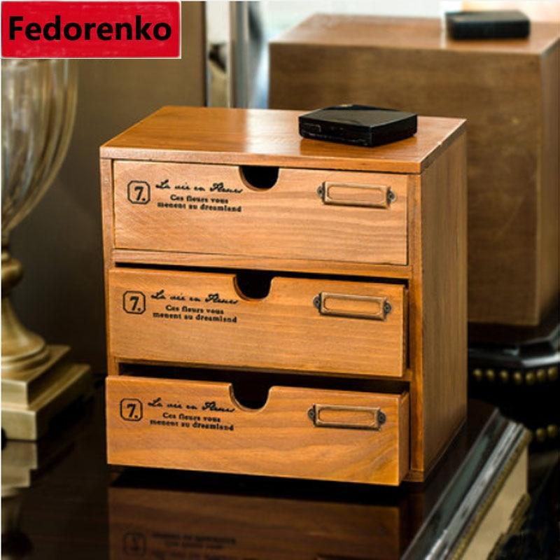 Bois multicouche tiroir de rangement Vintage europe Stand caixa organisadora armoire articles divers bijoux petit article organisateur boîtes