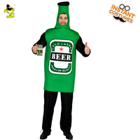 Mens Beer Costume Party Beer Emoji Clothing Role Play Fancy Dress Adult Onepiece Jumpsuit Carnival Party Costumes One Size
