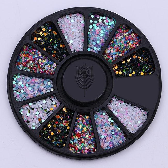 Смешанный цвет камень-хамелион Стразы для ногтей маленькие Необычные бусины Маникюр 3D дизайн ногтей украшения в колесиках аксессуары - Цвет: Pattern 8