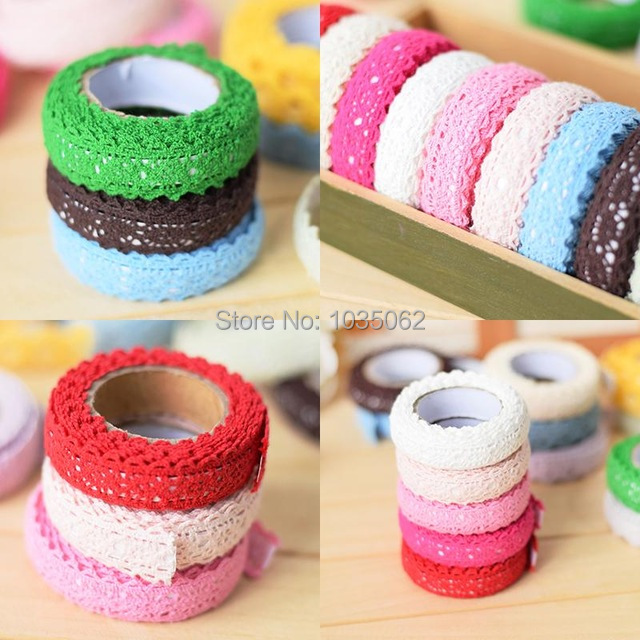 Cotton Knit Adhesive Tape Sticker, DIY Photo Decoration Tapes / Ribbon
