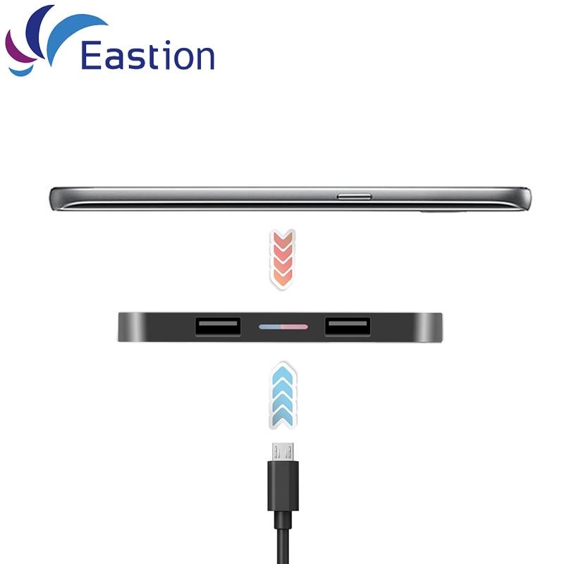Eastion QI Trådlös laddare Slim Disk mobiltelefonadapter - Reservdelar och tillbehör för mobiltelefoner - Foto 3