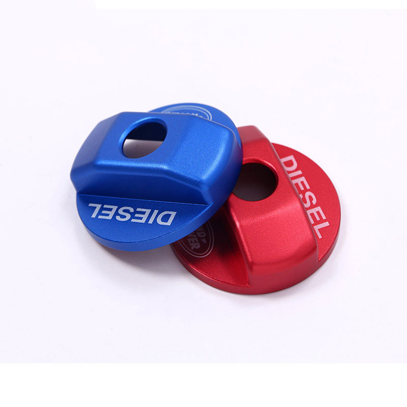 Red/Blue Fuel Tank Cap Trim Sticker For Land Rover Defender 110 For Landrover Defender <font><b>90</b></font> <font><b>2016</b></font> Car Accessories New Arriavls image
