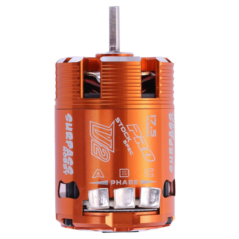 SURPASS HOBBY 540 17.5T SPEC 2200KV Sensored Brushless Timing Adjustable Motor for 1/10 RC Car Parts