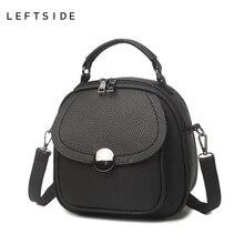 LeftSide Мода 2017 г. Дамские туфли из PU искусственной кожи сумки маленькая сумка через плечо сумки на плечо Простые винтажные женские сумки через плечо мешок леди Handba