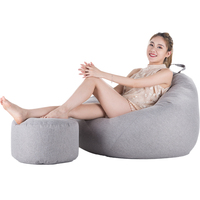 One Set Bean Bag Cover XL Lazy Sofa Bed Without Filler Bean Bag Chair Living Room Bedroom Couch Japanese Tatami Pouf Puff Sofas
