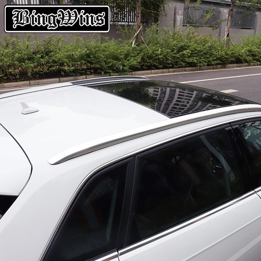 Style de voiture pour Audi A3 2014-2019 barres de barres de Rails latéraux porte-bagages porte-bagages en alliage d'aluminium accessoires Auot