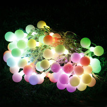Colorful round bulb string lights 110/ 220V 56 led string lights wedding twinkle Decoration+Free shipping