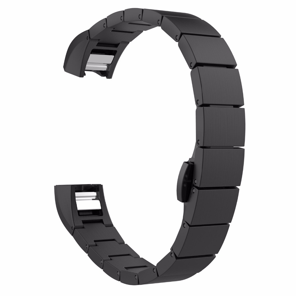 Butterfly Buckle Wrist Watches Strap Replacement Stainless Steel Wristband Strap Band for Fitbit Alta Smart Watch Accessory