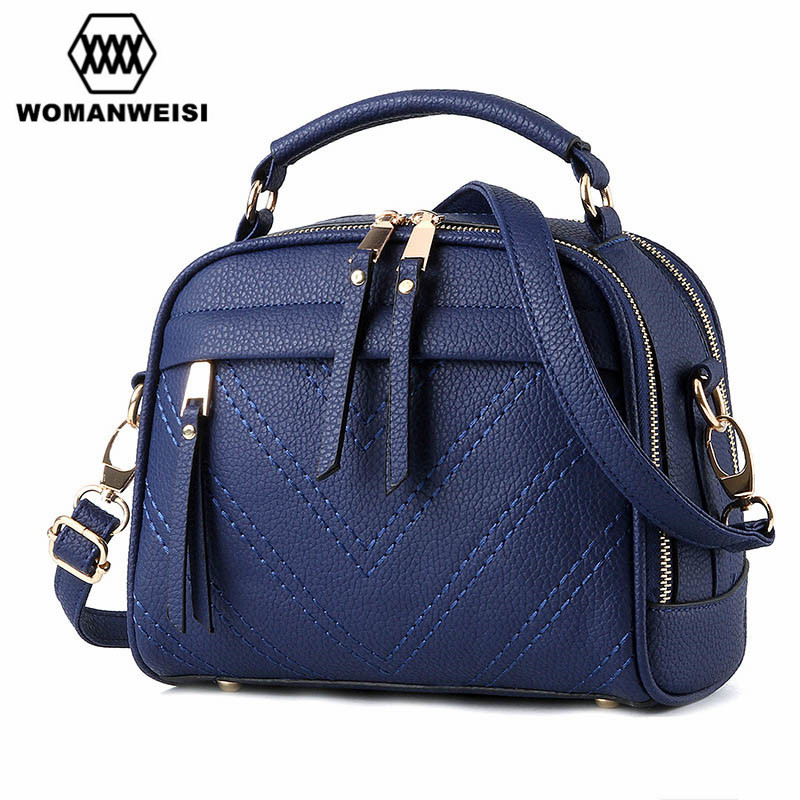 10 Colors Small Women Messenger Bags 2018 Brand New Leather Shoulder Bag Luxury Handbags Women Bags Designer Ladies Kabelky Saco new small women bags fashion designer girls messenger bag brand leather crossbody bags candy colors lady handbags f40 610