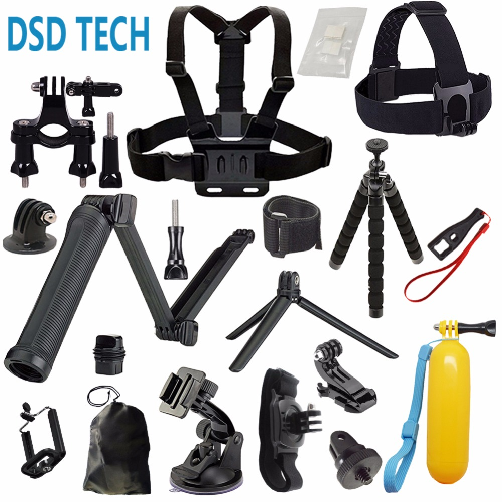 DSD TECH for GoPro 3 Way grip chesty chest harness accessories for go pro hero 6