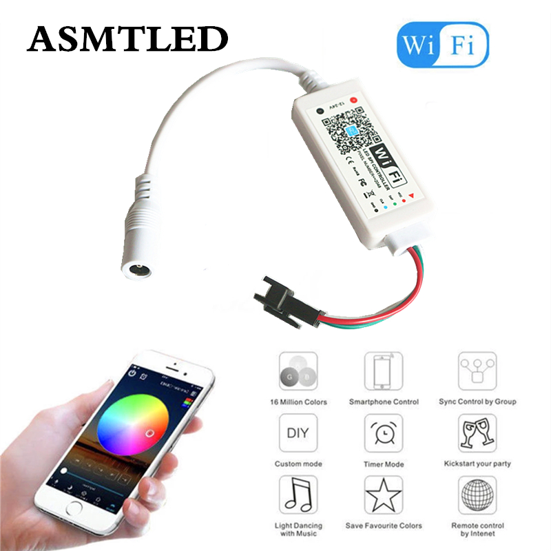 WS2811 SK6812 WS2812B Pixel LED Strip WiFi Controller IOS Android APP Amazon Alexa Google Addressable Mini SPI Wi-Fi Controller wi fi мост ubiquiti litebeam 5ac 23 lbe 5ac 23 eu