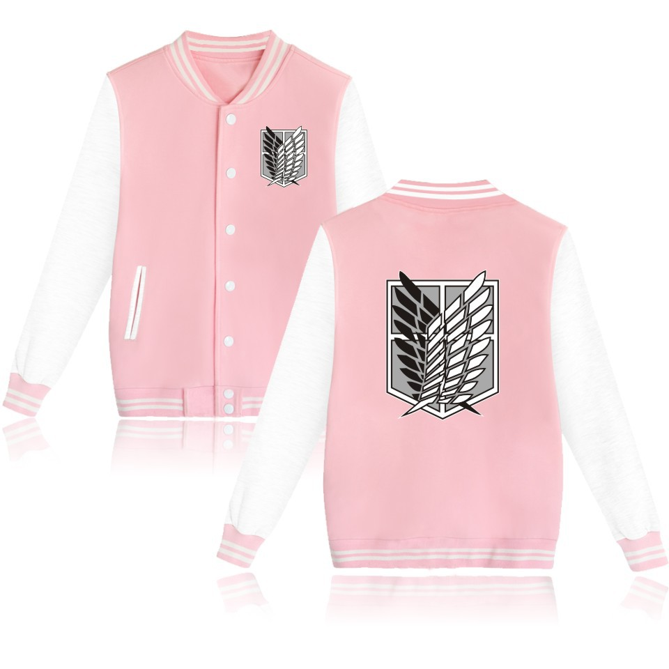 Image 3 - 2019 Attack on Titan anime Baseball Jacket streetwear Coat casual trackusuit mens coats and jackets plus size boys clothes-in Anime Costumes from Novelty & Special Use