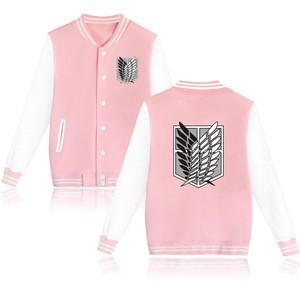 Image 3 - 2020 обувь для косплея по аниме «атака на Титанов» аниме бейсбольная куртка уличная пальто повседневный спортивный костюм мужские пальто и куртки размера плюс, одежда для мальчиков