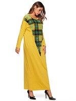 Cotton Muslim Abaya Gowns Maxi Dress Patch Designs Turkey Islamic Pakistani Kaftan Casual 4XL Dubai Dress Moroccan Kaftan 7464