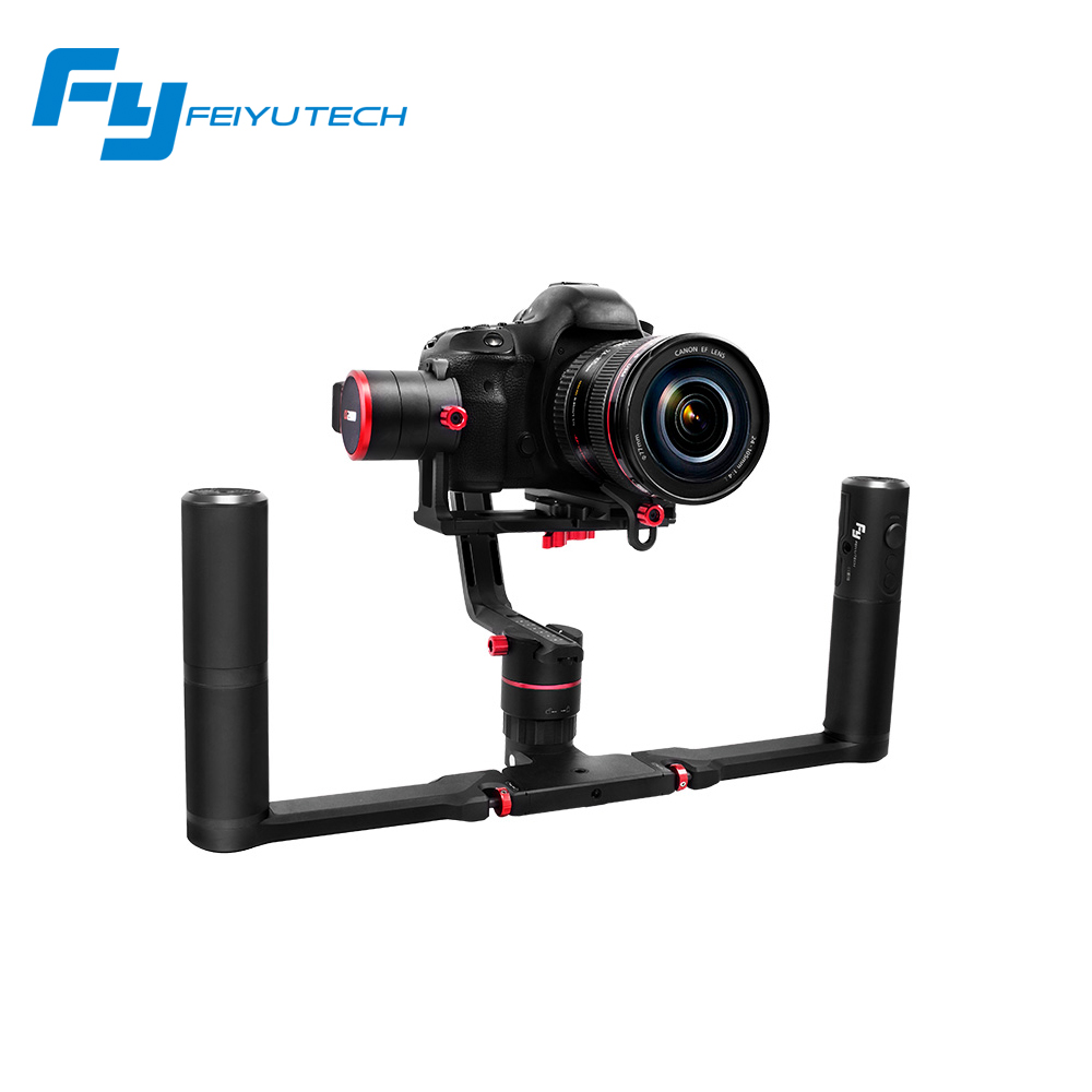 Feiyu A1000 / A2000 3-Axis Gimbal DSLR Camera Stabilizer Dual handheld grip for a6500 a6300 iPhone Canon 5D/SONY Panasonic 2000g afi vs 3sd handheld 3 axle brushless handheld steady gimbal stabilizer for canon 5d 6d 7d for sony for gh4 dslr q20185