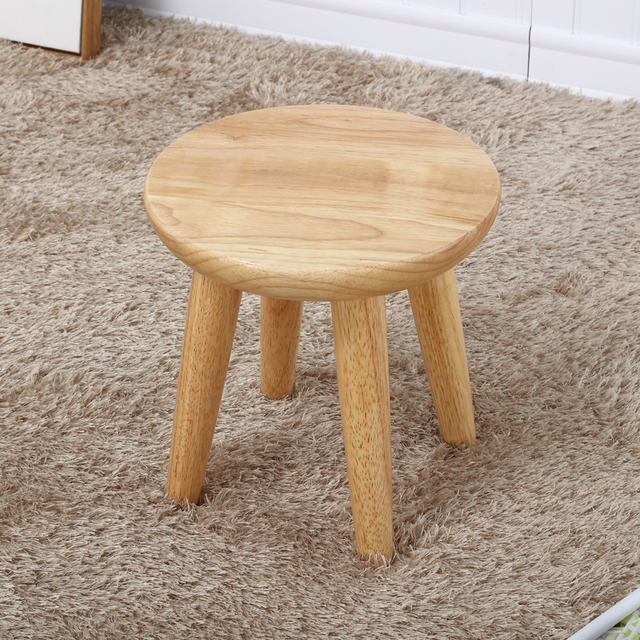 Staygold Chairs Solid Wood Stool Oak Creative Garden Stool Fashion  Household Small Bench Free Assembly Easy
