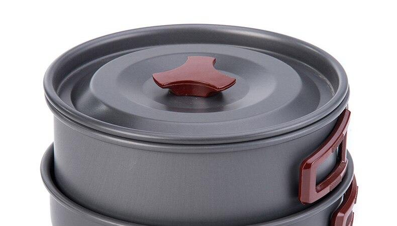 Pote de Piquenique Cookset Portátil Compacto