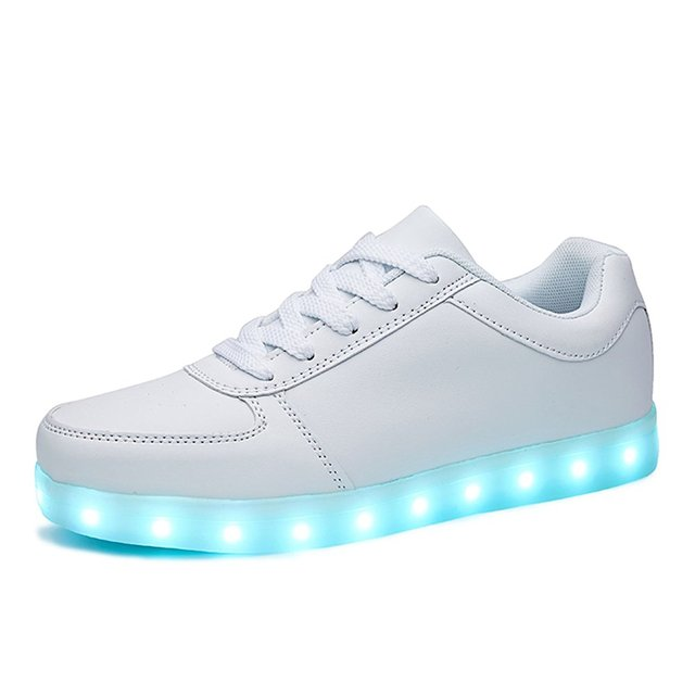 e8c27bc6080a8 US $17.99 24% OFF|KRIATIV USB Charging LED Light Up Shoes LED Slippers  Boy&Girl Luminous Sneakers Glowing Sports Dancing Sneakers Women 350-in ...