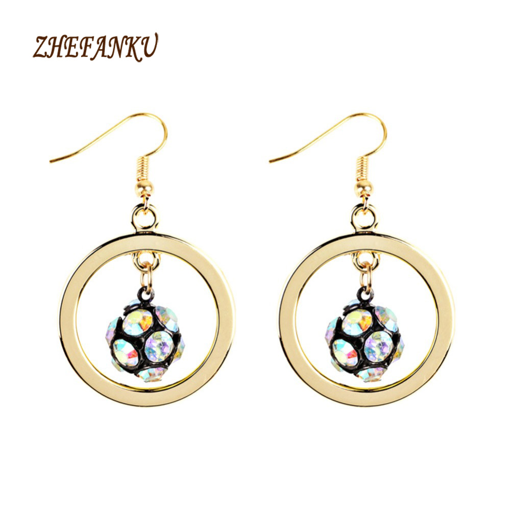 1 Pair Creative Unisex Football Pendant Earrings Alloy Soccer Earrings For Women Sport Ball Jewelry 6 Colors