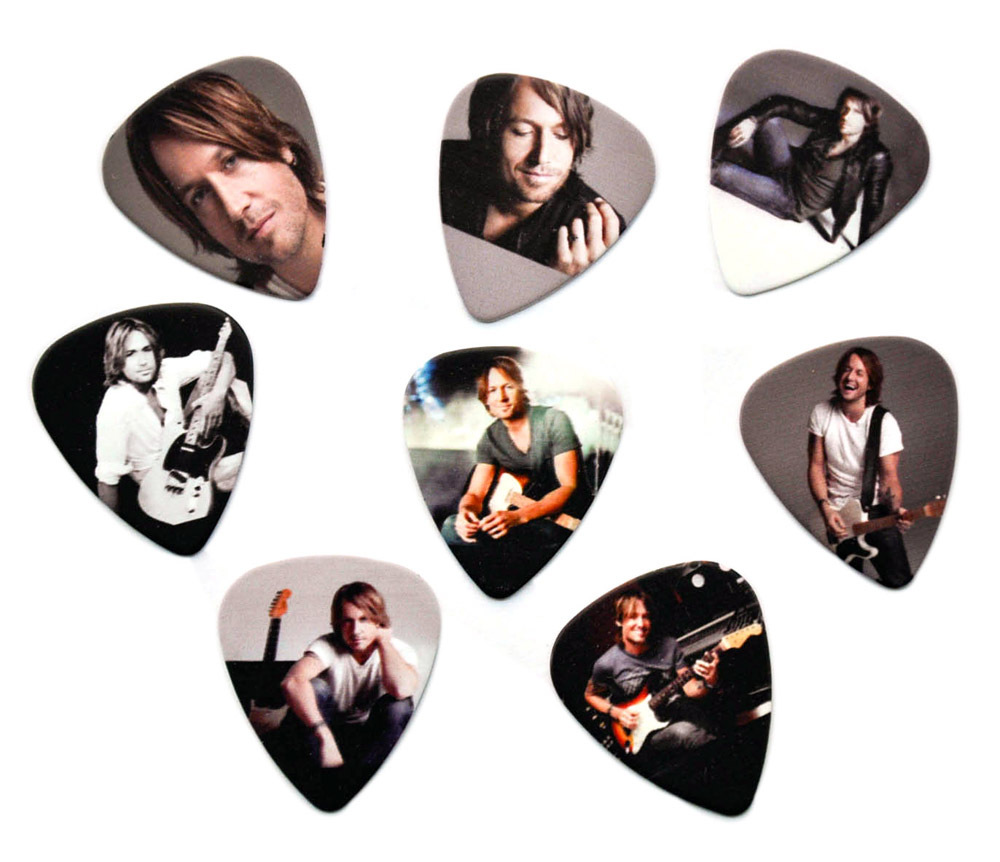 Lots of 16Pcs Keith Urban 2 sides printing Guitar Picks Plectrum Medium Size 0.71mm