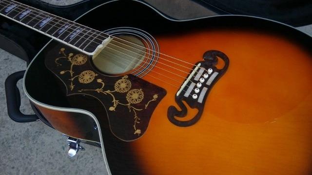 left hand Acoustic Guitar Vintage Sunburst Acoustic Electric Guitar Factory customization 1