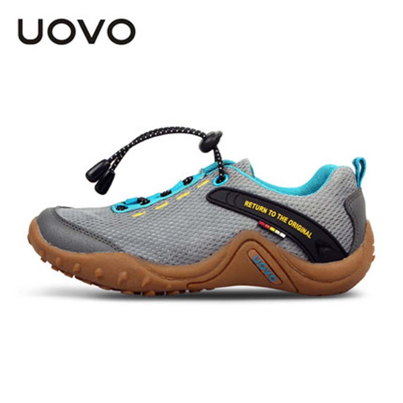 New Uovo Brand Spring Autumn Summer Kids Breathable Mocasines Soft Running Shoes Slip-resistant Outdoor Casual Boys Girls Shoes