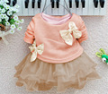 2017 Autumn Dresses Kids Party For Girl Dress Children Girls Clothes Long Sleeve Crochet Lace Tutu Princess Vetement Fille