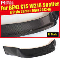 For Mercedes Benz W218 Rear Spoiler R-Style Carbon Fiber CLS-Class CLS350 CLS400 CLS550 Rear Frunk Spoiler Wing car styling 12+