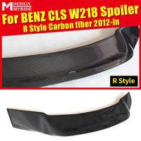 Para Mercedes Benz CLS W218 R-Estilo Spoiler Traseiro De Fibra De Carbono-Classe CLS350 CLS400 CLS550 Frunk Spoiler Traseiro asa car styling 12 +