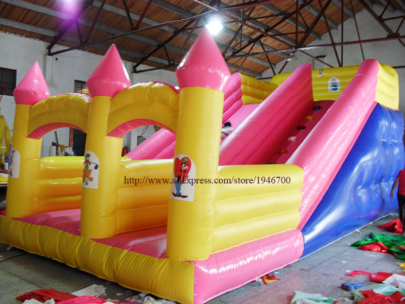 PVC tarpaulin double lane slip inflatable slide  for sale/outdoor inflatable water slide for kids entertainment environmentally friendly pvc inflatable shell water floating row of a variety of swimming pearl shell swimming ring