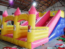 PVC tarpaulin double lane slip inflatable slide for sale/outdoor inflatable water slide for kids entertainment
