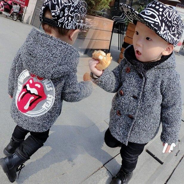 88c4e9cf2 2018 Boys Autumn Winter Clothing Children Fashion Double Breasted ...