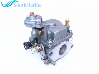 Outboard Engine 6D4-14301-00 Carburetor Assy for Yamaha 9.9HP 15HP 4-stroke Boat Motor, Manual Start
